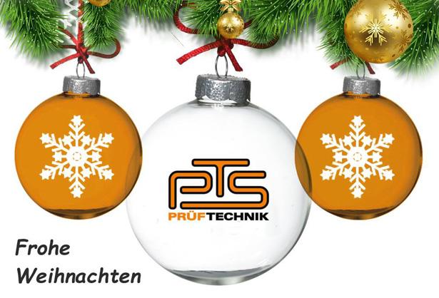 PTS-Prüftechnik wünscht Frohe Weihnachten und schöne Festtage.